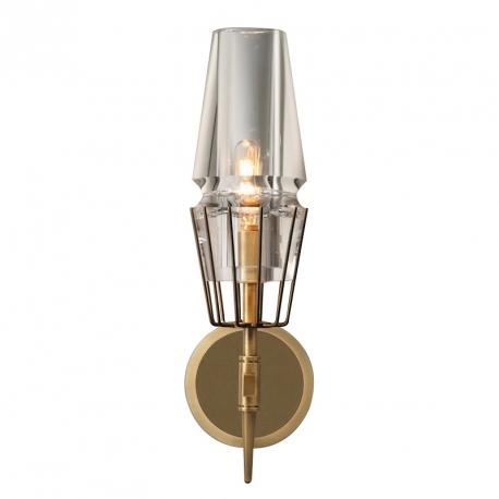New Modern Claridges Brass Glass Single Sconce