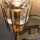New Modern Chaillot Brass Glass Single Sconce