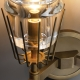 New Modern Claridges Brass Glass Double Sconce