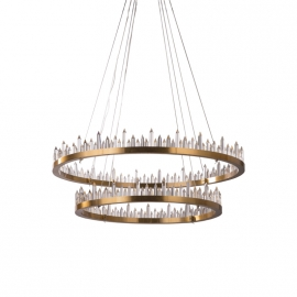 Crystal Prism Ring Chandelier