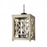 Regina Andrew Wood Lattice Lantern Chandelier