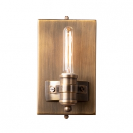 Brass Vintage Industrail Style Abel Wall Sconce Edison Bulbs