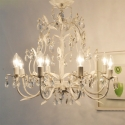 Country Style Vintage White Crystal Rococo Palais  Tree branch Chandelier Lights